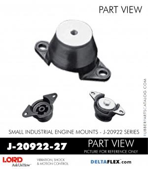 RUBBER-PARTS-CATALOG-DELTAFLEX-Vibration-Isolator-LORD-Small-Industrial-Engine-Mount-J-20922-Series-J-20922-27