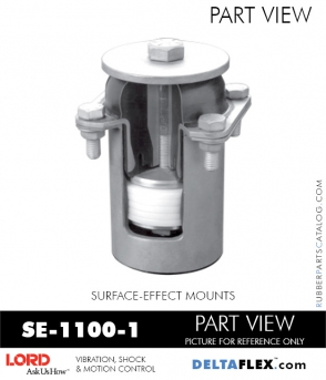 RUBBER-PARTS-CATALOG-DELTAFLEX-Vibration-Isolator-LORD-Suface-Effect-Mount-SE-1100-1