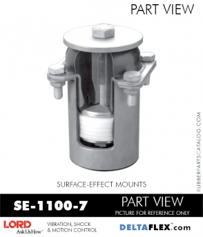 RUBBER-PARTS-CATALOG-DELTAFLEX-Vibration-Isolator-LORD-Suface-Effect-Mount-SE-1100-7