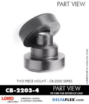 Rubber-Parts-Catalog-Delta-Flex-LORD-Corporation-Two-piece-mount-cb-2200-series-CB-2203-4