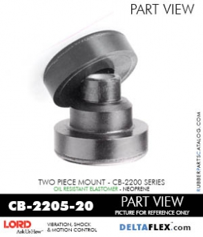 Rubber-Parts-Catalog-com-LORD-Corporation-Two-Piece-Center-Bonded-Mount-CB-2200-Series-OIL-RESISTANT-CB-2205-20