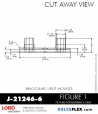 RUBBER-PARTS-CATALOG-DELTAFLEX-Vibration-Isolator-LORD-Binocular-split-Mount-J-21246-6