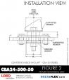 Rubber-Parts-Catalog-Delta-Flex-LORD-Corporation-Vibration-Control-Center-Bonded-Mounts-CBA24-500-50