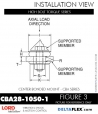 Rubber-Parts-Catalog-Delta-Flex-LORD-Corporation-Vibration-Control-Center-Bonded-Mounts-CBA28-1050-1