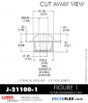 Rubber-Parts-Catalog-Delta-Flex-LORD-Corporation-Conical-Mount-J-21100-1