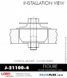 Rubber-Parts-Catalog-Delta-Flex-LORD-Corporation-Conical-Mount-J-21100-4