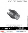 RUBBER-PARTS-CATALOG-DELTAFLEX-Vibration-Isolator-LORD-Dynaflex-Shear-Type-Couplings -Coupling-J-1211-4-1