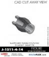 RUBBER-PARTS-CATALOG-DELTAFLEX-Vibration-Isolator-LORD-Dynaflex-Shear-Type-Couplings -Coupling-J-1211-4-14