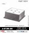 Rubber-Parts-Catalog-Delta-Flex-LORD-Flex-Bolt-Large-Sandwich-Mounts-J-5130-55
