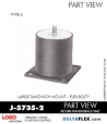 Rubber-Parts-Catalog-Delta-Flex-LORD-Flex-Bolt-Large-Sandwich-Mounts-J-5735-2