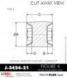 Rubber-Parts-Catalog-Delta-Flex-LORD-Flex-Bolt-Medium-Sandwich-Mounts-Femal-Female-J-3424-21