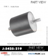 Rubber-Parts-Catalog-Delta-Flex-LORD-Flex-Bolt-Medium-Sandwich-Mounts-Male-Male-J-5425-219