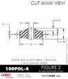 RUBBER-PARTS-CATALOG-DELTAFLEX-Vibration-Isolator-LORD-Corporation-PLATEFORM-MOUNT-SERIES-DIAMOND-100PDL-4