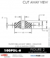 RUBBER-PARTS-CATALOG-DELTAFLEX-Vibration-Isolator-LORD-Corporation-PLATEFORM-MOUNT-SERIES-DIAMOND-100PDL-6