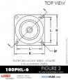 RUBBER-PARTS-CATALOG-DELTAFLEX-Vibration-Isolator-LORD-PLATEFORM-MOUNT-SERIES-HOLDER-100PHL-6