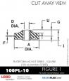 RUBBER-PARTS-CATALOG-DELTAFLEX-Vibration-Isolator-LORD-Corporation-PLATEFORM-MOUNT-SERIES-Square-100PL-10