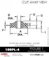 RUBBER-PARTS-CATALOG-DELTAFLEX-Vibration-Isolator-LORD-Corporation-PLATEFORM-MOUNT-SERIES-Square-100PL-4