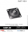 RUBBER-PARTS-CATALOG-DELTAFLEX-Vibration-Isolator-LORD-Corporation-PLATEFORM-MOUNT-SERIES-Square-150P-30