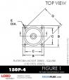 RUBBER-PARTS-CATALOG-DELTAFLEX-Vibration-Isolator-LORD-Corporation-PLATEFORM-MOUNT-SERIES-Square-150P-4