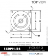 RUBBER-PARTS-CATALOG-DELTAFLEX-Vibration-Isolator-LORD-PLATEFORM-MOUNT-SERIES-HOLDER-150PH-24