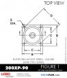 RUBBER-PARTS-CATALOG-DELTAFLEX-Vibration-Isolator-LORD-Corporation-PLATEFORM-MOUNT-SERIES-Square-200XP-90