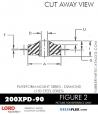RUBBER-PARTS-CATALOG-DELTAFLEX-Vibration-Isolator-LORD-Corporation-PLATEFORM-MOUNT-SERIES-DIAMOND-200XPD-90