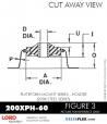 RUBBER-PARTS-CATALOG-DELTAFLEX-Vibration-Isolator-LORD-PLATEFORM-MOUNT-SERIES-HOLDER-200XPH-60