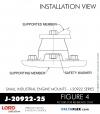 RUBBER-PARTS-CATALOG-DELTAFLEX-Vibration-Isolator-LORD-Small-Industrial-Engine-Mount-J-20922-Series-J-20922-25