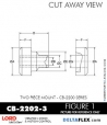 Rubber-Parts-Catalog-Delta-Flex-LORD-Corporation-Two-piece-mount-cb-2200-series-CB-2202-3