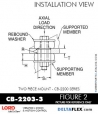 Rubber-Parts-Catalog-Delta-Flex-LORD-Corporation-Two-piece-mount-cb-2200-series-CB-2203-3