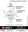 Rubber-Parts-Catalog-Delta-Flex-LORD-Corporation-Two-piece-mount-cb-2200-series-CB-2204-1