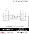 Rubber-Parts-Catalog-Delta-Flex-LORD-Corporation-Two-piece-mount-cb-2200-series-CB-2205-5