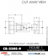 RubberPartsCatalog.com - LORD Corporation Two Piece Center Bonded Mount CB-2200 Series - CB-2205-10