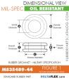 MS35489-44   Rubber Grommet   Mil-Spec