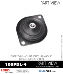 RUBBER-PARTS-CATALOG-DELTAFLEX-Vibration-Isolator-LORD-Corporation-PLATEFORM-MOUNT-SERIES-DIAMOND-100PDL-4