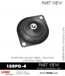 RUBBER-PARTS-CATALOG-DELTAFLEX-Vibration-Isolator-LORD-Corporation-PLATEFORM-MOUNT-SERIES-DIAMOND-150PD-4