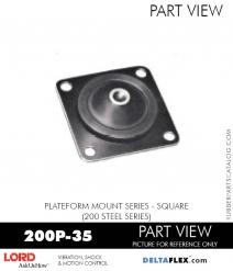 RUBBER-PARTS-CATALOG-DELTAFLEX-Vibration-Isolator-LORD-Corporation-PLATEFORM-MOUNT-SERIES-Square-200P-35