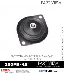 RUBBER-PARTS-CATALOG-DELTAFLEX-Vibration-Isolator-LORD-Corporation-PLATEFORM-MOUNT-SERIES-DIAMOND-200PD-45